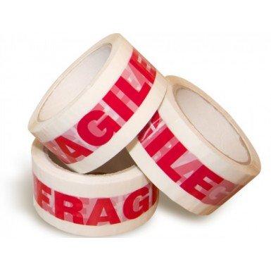 Printed FRAGILE Packaging Tape